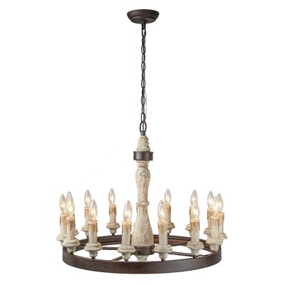 Lechuga 15-Light Candle-Style Chandelier