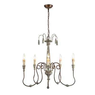 Lebow 5-Light Candle-Style Chandelier