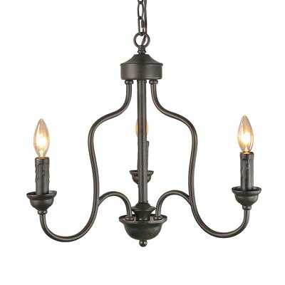 Pollman Traditional 3-Light Candle-Style Chandelier
