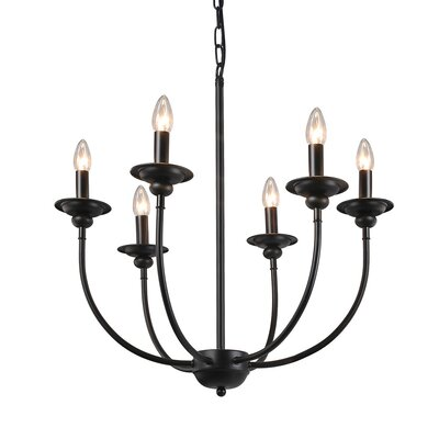 Shirl Traditional 6-Light Candle-Style Chandelier