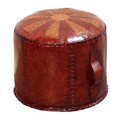 Pasillas Leather Pouf Ottoman