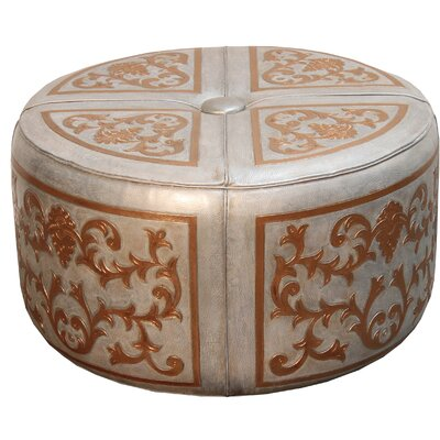 Canter Baroque Leather Pouf Ottoman