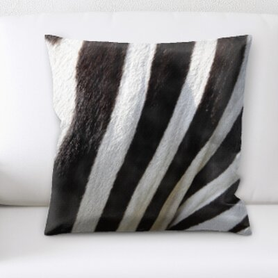 Petillo Zebra Skin Close Up Throw Pillow