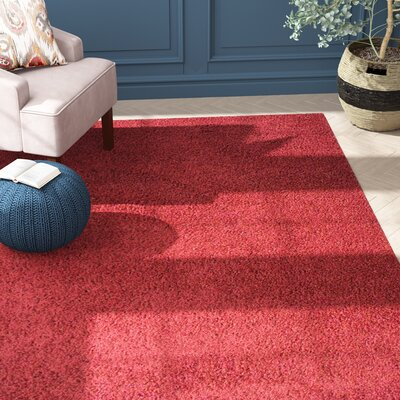Alsager Burgundy Area Rug Rug Size: Rectangle 53 x 72