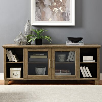 Wingert 58 TV Stand Color: Rustic Oak