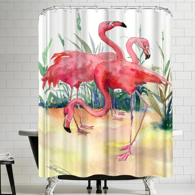 Suren Nersisyan Flamingos Shower Curtain