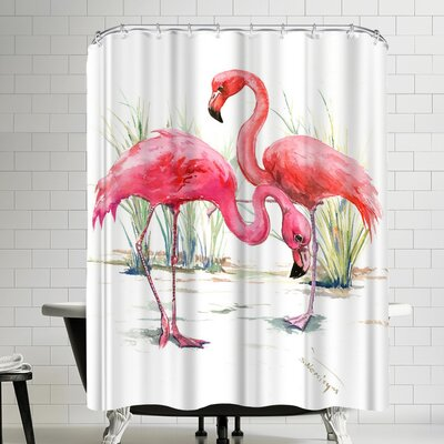 Suren Nersisyan Flamingos II Shower Curtain