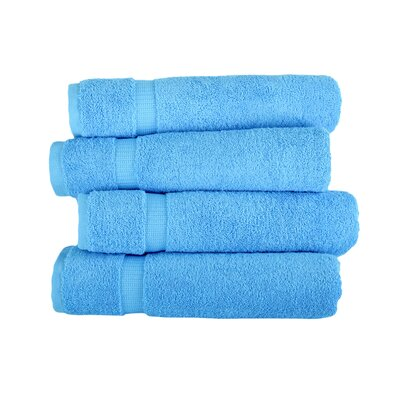 Armel 4 Piece Bath Towel Set Color: Aqua