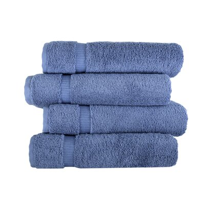 Armel 4 Piece Bath Towel Set Color: Blue