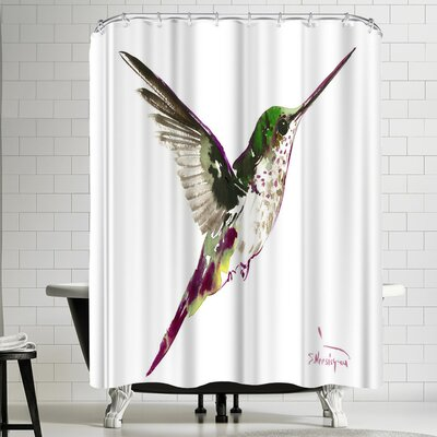 Suren Nersisyan Flying Hummingbird Shower Curtain