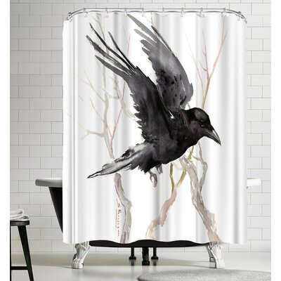 Suren Nersisyan Flying Raven Shower Curtain