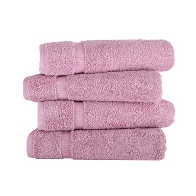 Armel 4 Piece Bath Towel Set Color: Rose