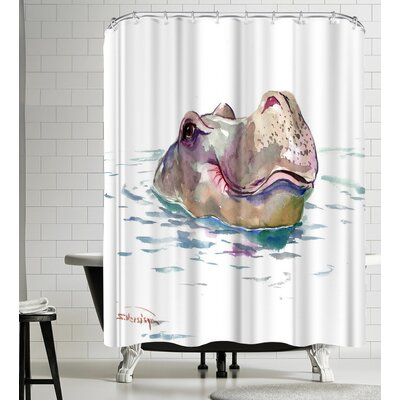 Suren Nersisyan Hippo Shower Curtain
