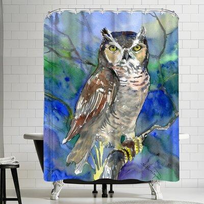 Suren Nersisyan Horned Owl Shower Curtain