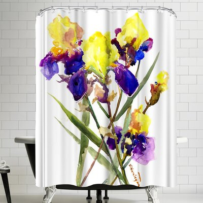 Suren Nersisyan Irises I Shower Curtain