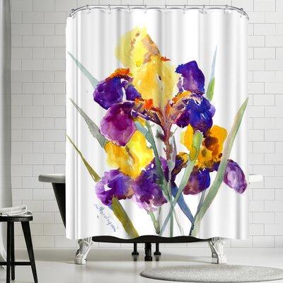 Suren Nersisyan Irises III Shower Curtain