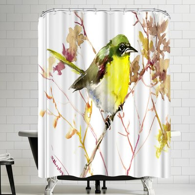 Suren Nersisyan Yellow Breasted Chat Shower Curtain