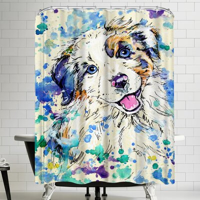 Eve Izzett Aussie Pup Shower Curtain
