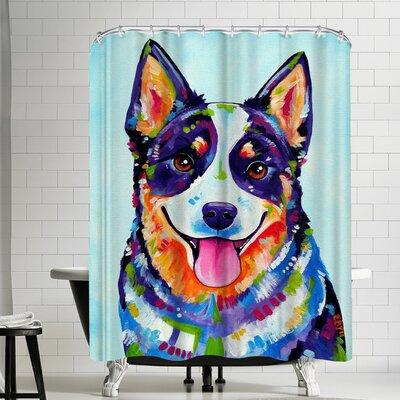 Eve Izzett Australian Cattle Dog Shower Curtain