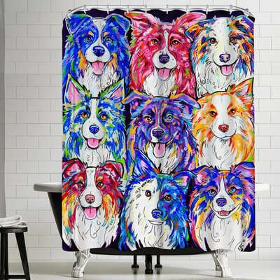 Eve Izzett Collies in Color Shower Curtain