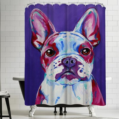 Eve Izzett French Bulldog Shower Curtain