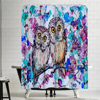 Eve Izzett Little Owls II Shower Curtain