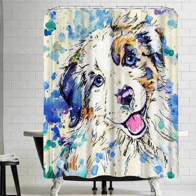 Eve Izzett Aussie Pup Shower Curtain