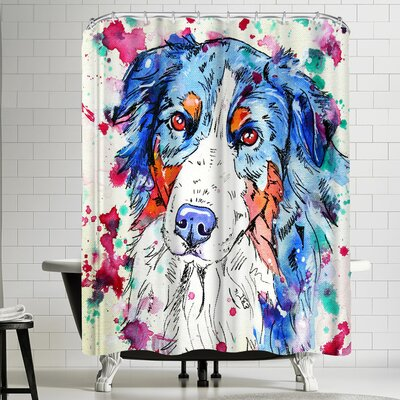 Eve Izzett Aussie Shepherd II Shower Curtain