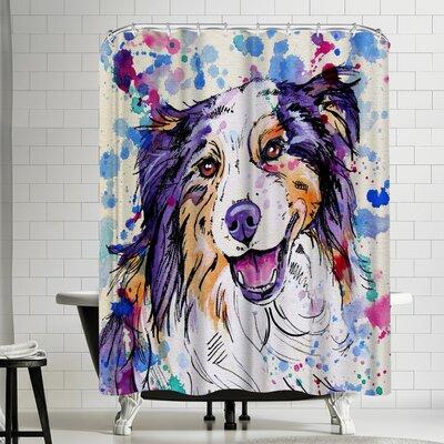 Eve Izzett Aussie Shepherd III Shower Curtain