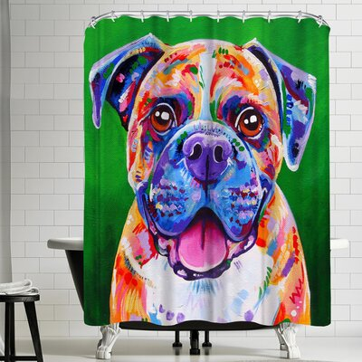 Eve Izzett Boxer Dog Shower Curtain