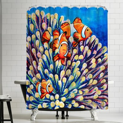Eve Izzett Clown Fish Shower Curtain
