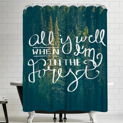 Annie Bailey All Is Well Shower Curtain
