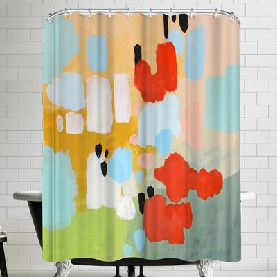 Annie Bailey Beating Hearts Shower Curtain