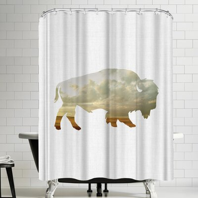 Annie Bailey Bison And Plains Shower Curtain