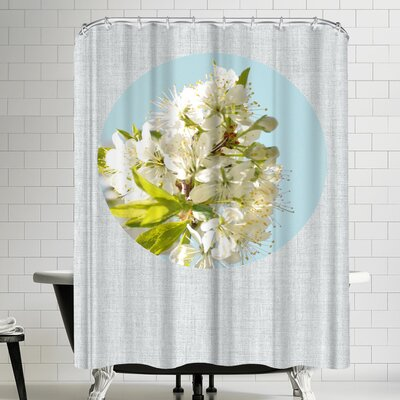 Annie Bailey Blossoms And Blue Shower Curtain