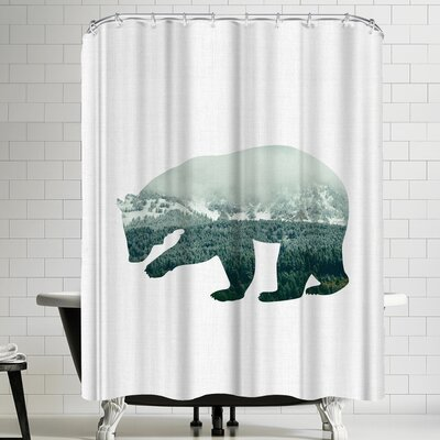Annie Bailey Brown Bear Shower Curtain