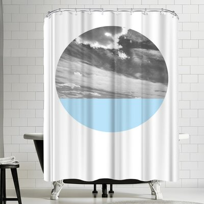 Annie Bailey Cloudscape And Blue Shower Curtain