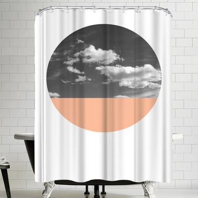 Annie Bailey Cloudscape And Coral Shower Curtain