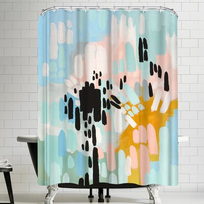 Annie Bailey Collisions Shower Curtain