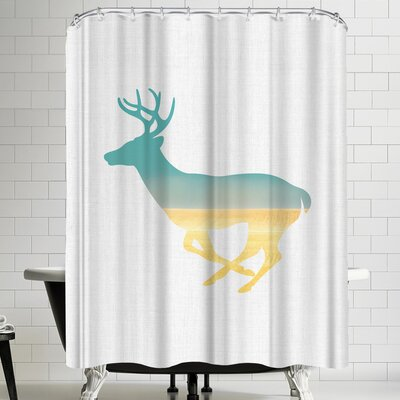 Annie Bailey Deer And Plains Shower Curtain