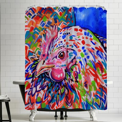 Eve Izzett Little Hen Shower Curtain