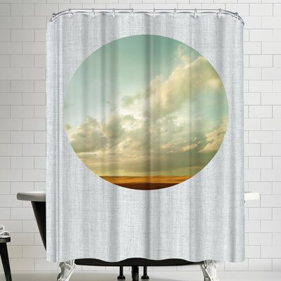 Annie Bailey Dirt Road Sunset Shower Curtain