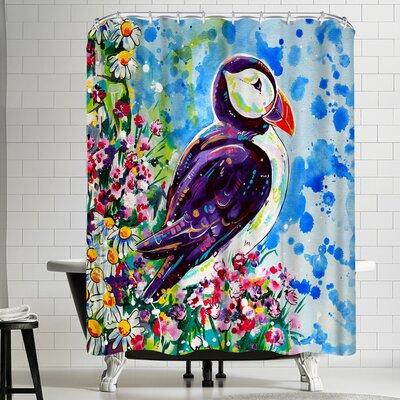 Eve Izzett Puffin Shower Curtain