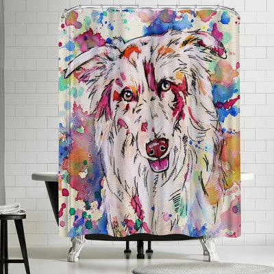 Eve Izzett Red Merle Collie Shower Curtain
