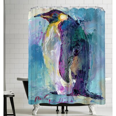 Richard Wallich Penguin Shower Curtain