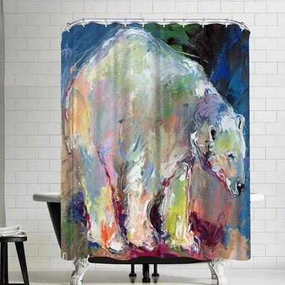 Richard Wallich Polar Bear Shower Curtain