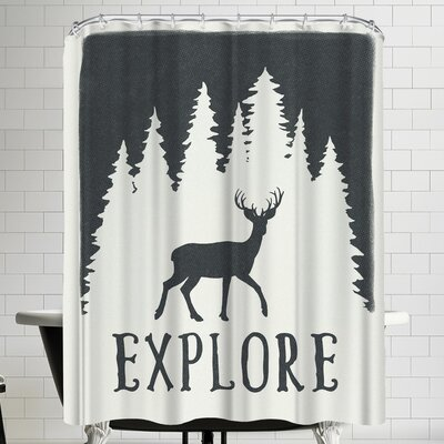 Annie Bailey Explore Shower Curtain