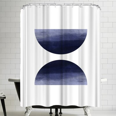 Ikonolexi Blue Watercolor Circles Shower Curtain