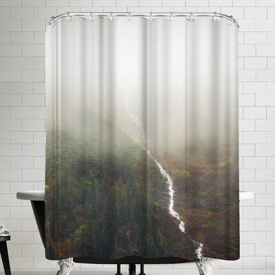 Annie Bailey Flowing Through The Fog Shower Curtain