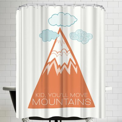 Annie Bailey Move Mountains Shower Curtain